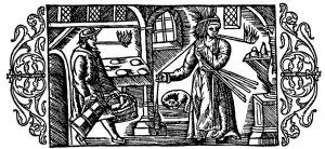 Olaus Magnus Historia om de nordiska folken. Bok 2 - Kapitel 17 - Om lyse och torrvedsfacklor. - Utgivningsår 1555.